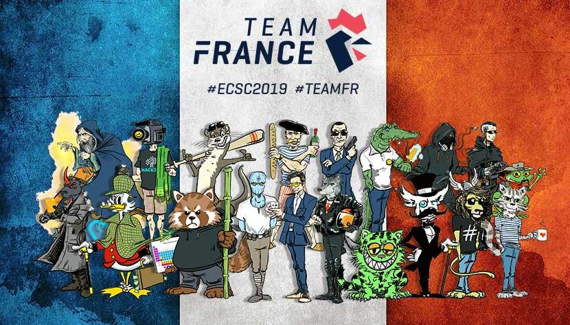 ECSC 2019 - Team France - Avatars