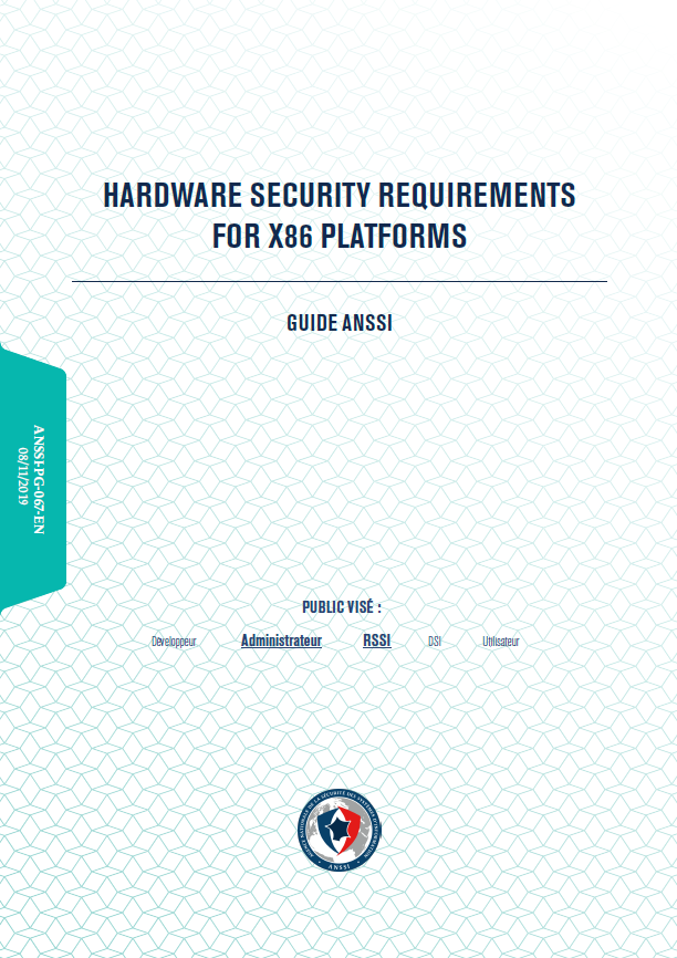 Hardware security requirements for x86 platforms - cover